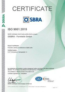 Certificate OSBRA ISO 9001:2015 en